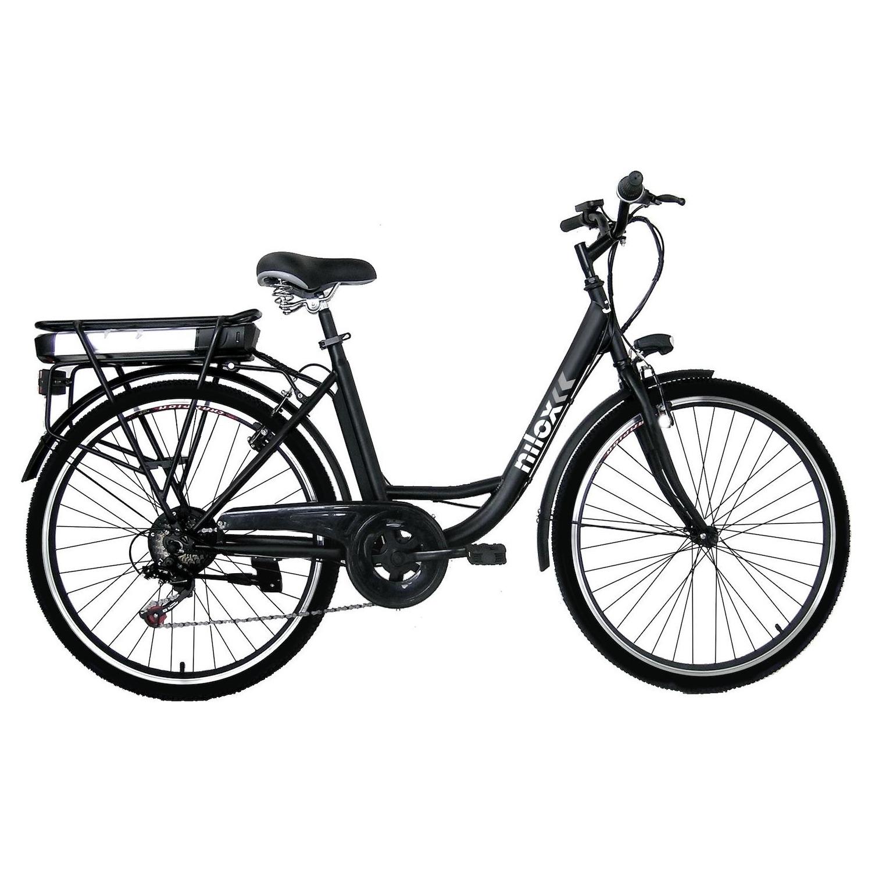 "E-Bike Nilox J5 26"" Steel Black - Bicicletta Elettrica ..."
