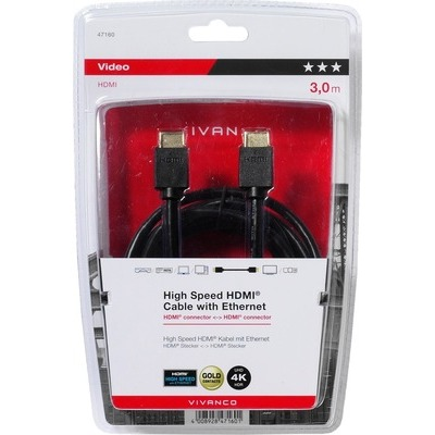 Cavo Vivanco HDMI high speed 3 mt 47160