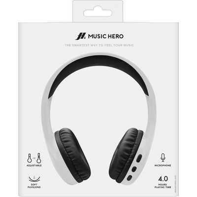 Cuffia SBS Music Hero bluetooth bianco